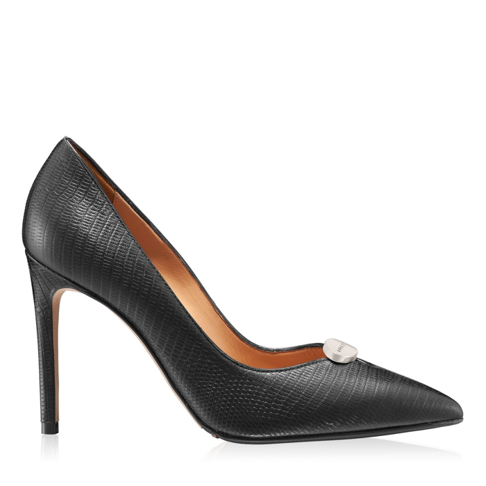 Imagine Pantofi eleganti dama 5598 Viperina Negru Mat