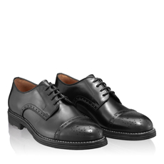 Pantofi Casual Barbati 6610 Vitello Negru