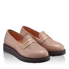 Pantofi Casual Dama 4829 Vitello Foro Poudre