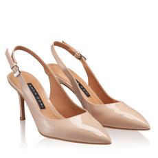 Pantofi Decupati Dama 5728 Lac Nude