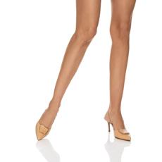 Pantofi Decupati 5843 Croco Nude