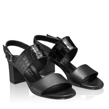 Sandale 5727 Vit+Croco Negru