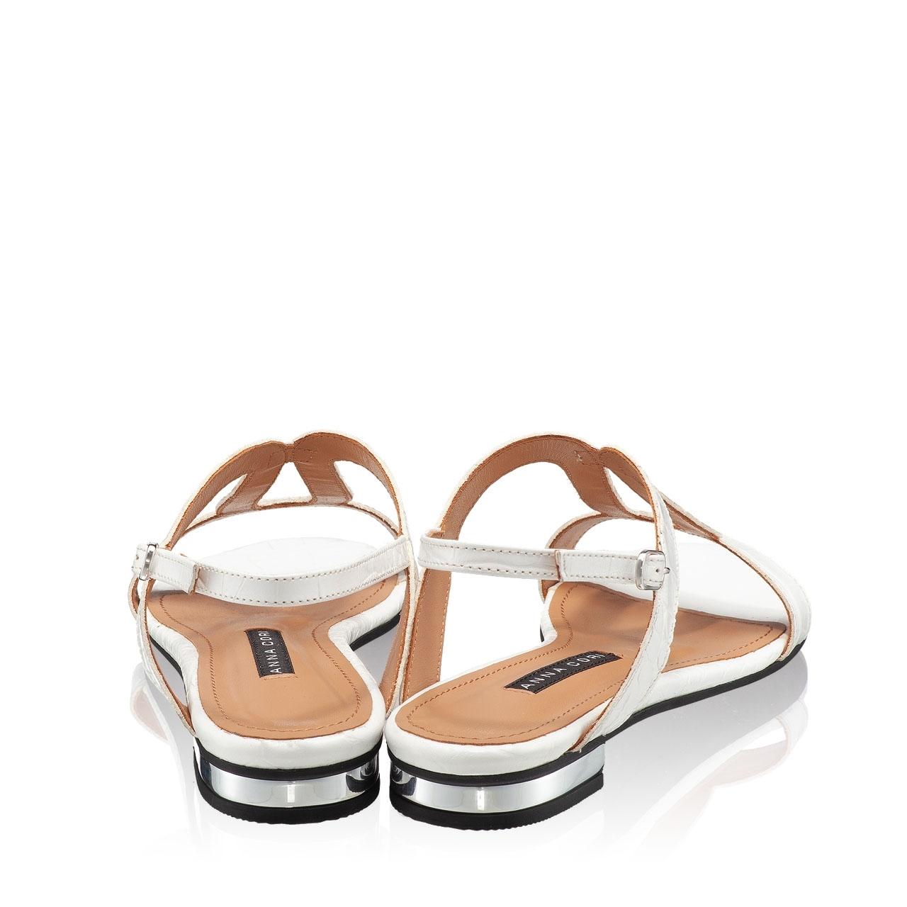 Imagine Sandale Dama 5844 Croco Alb