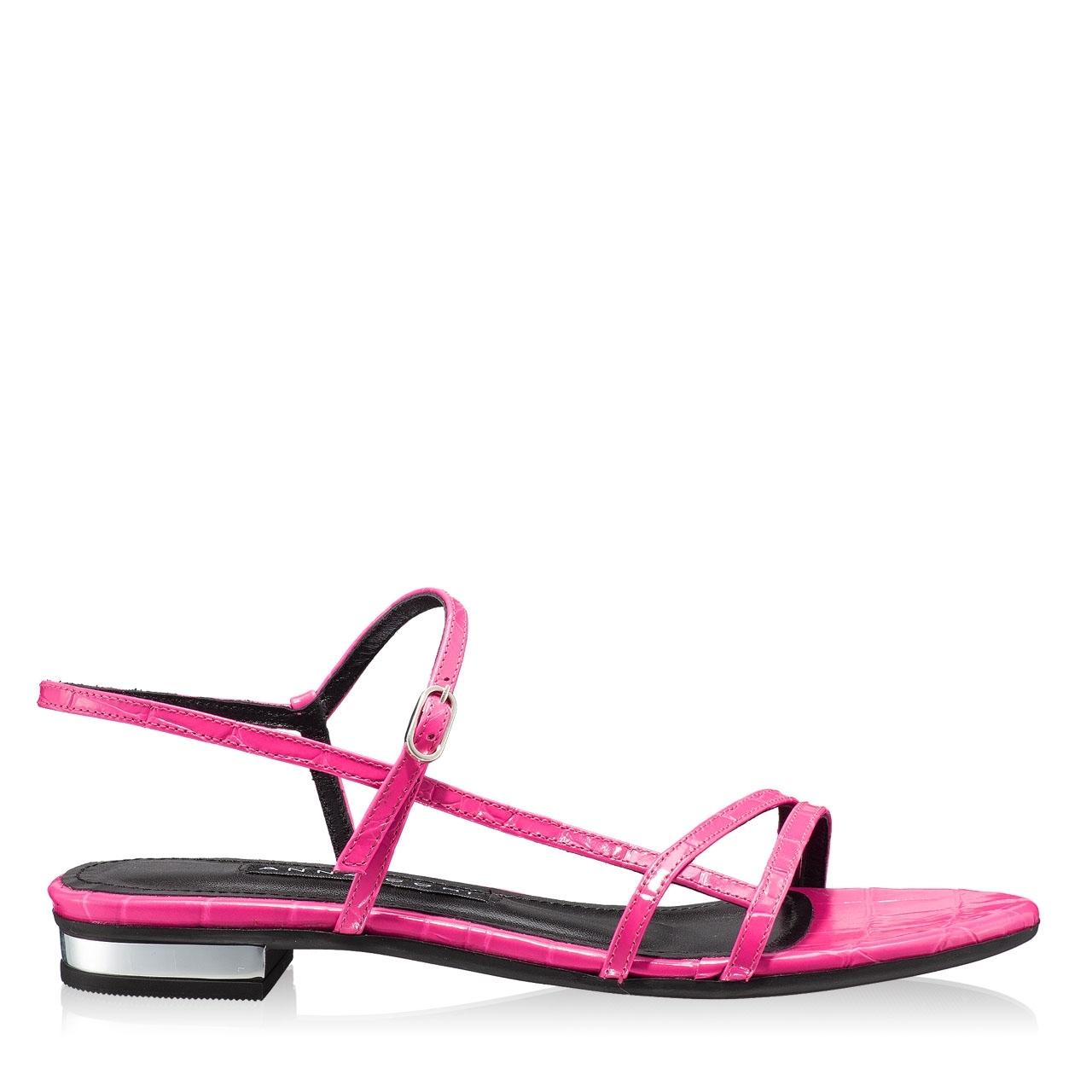 Imagine Sandale Dama 5850 Croco Fuxia