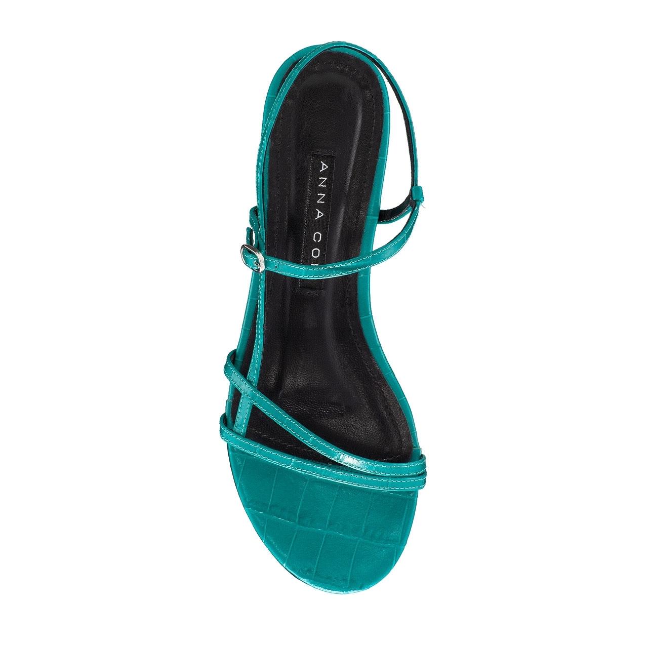 Imagine Sandale Dama 5850 Croco Turchese
