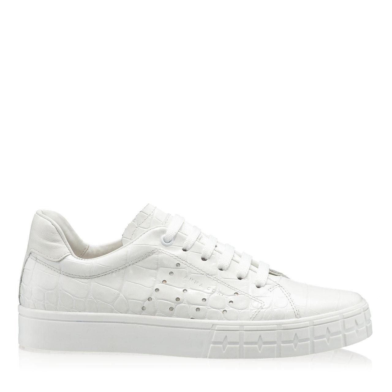 Imagine Pantofi Sport Dama 5909 Croco Alb