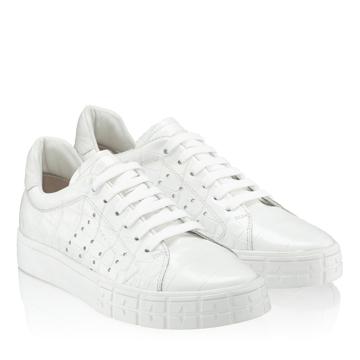 Pantofi Sport Dama 5909 Croco Alb