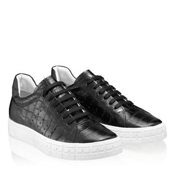 Pantofi Sport Dama 5909 Croco Negru