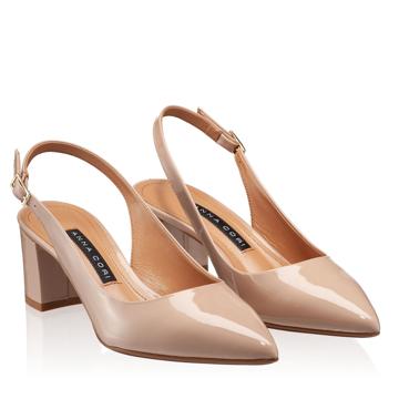 Pantofi Decupati Dama 5907 Lac Nude