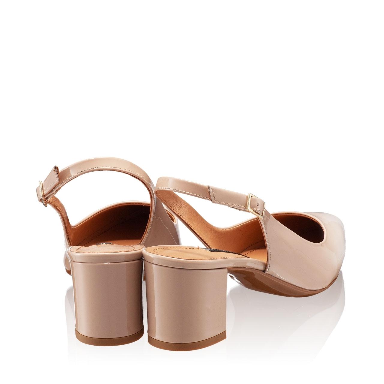 Imagine Pantofi Decupati Dama 5907 Lac Nude
