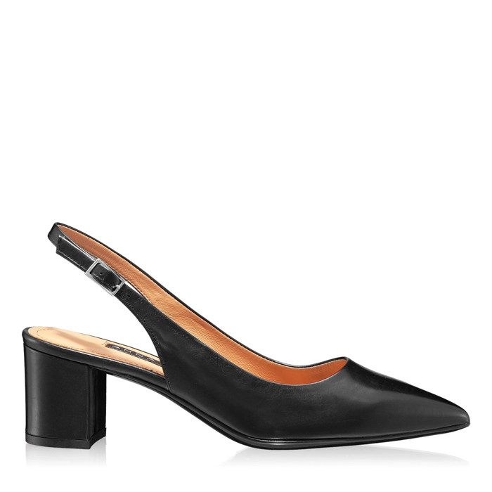 Imagine Pantofi Decupati Dama 5907 Vitello Negru