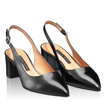Pantofi Decupati Dama 5907 Vitello Negru