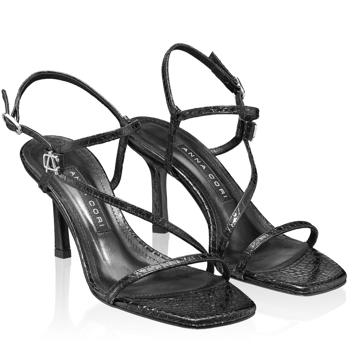 Sandale Dama 5880 Croco Negru