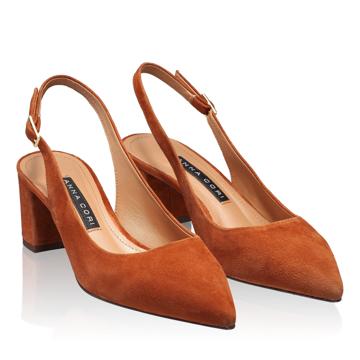 Pantofi Decupati Dama 5907 Camoscio Cuoio