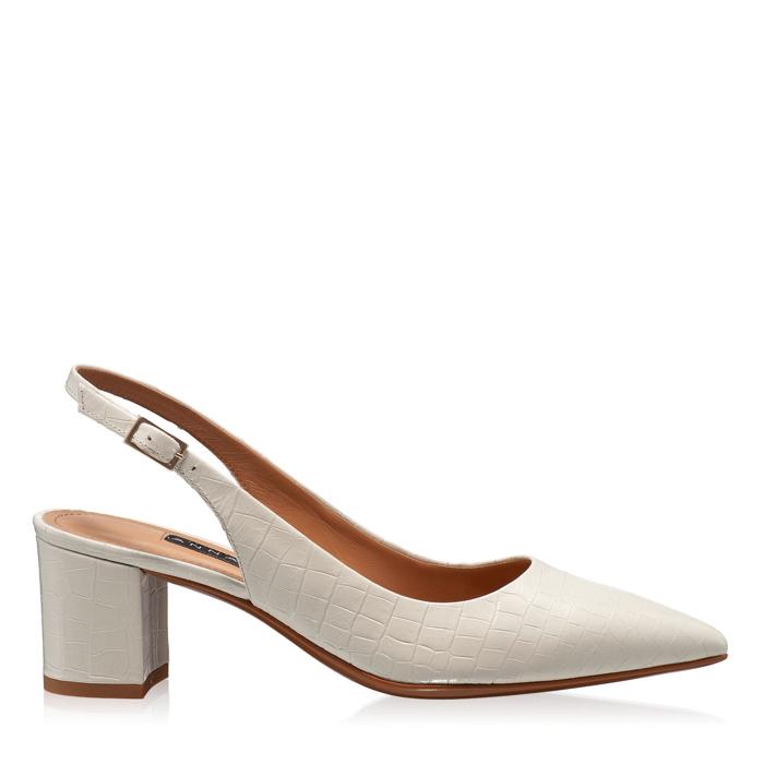 Imagine Pantofi Decupati Dama 5907 Croco Avorio