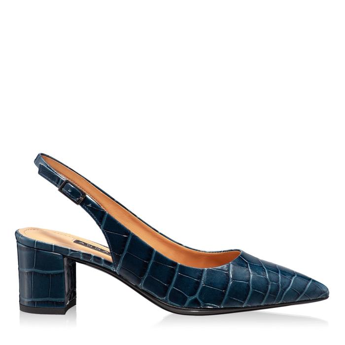 Imagine Pantofi Decupati Dama 5907 Croco Blue