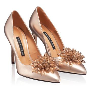 Pantofi Eleganti Dama 5623 Laminato Rame