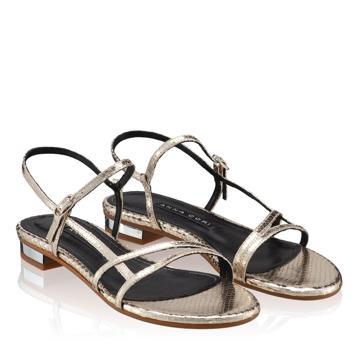 Sandale Dama 5850 Lamin Platino Stamp
