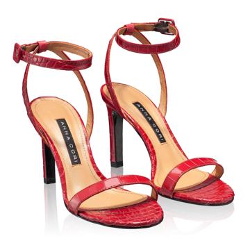 Sandale Dama 5842 Croco Rosu