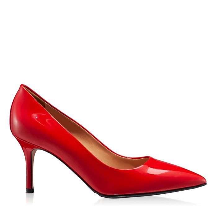 Imagine Pantofi Eleganti Dama  4416 Lac Rosu