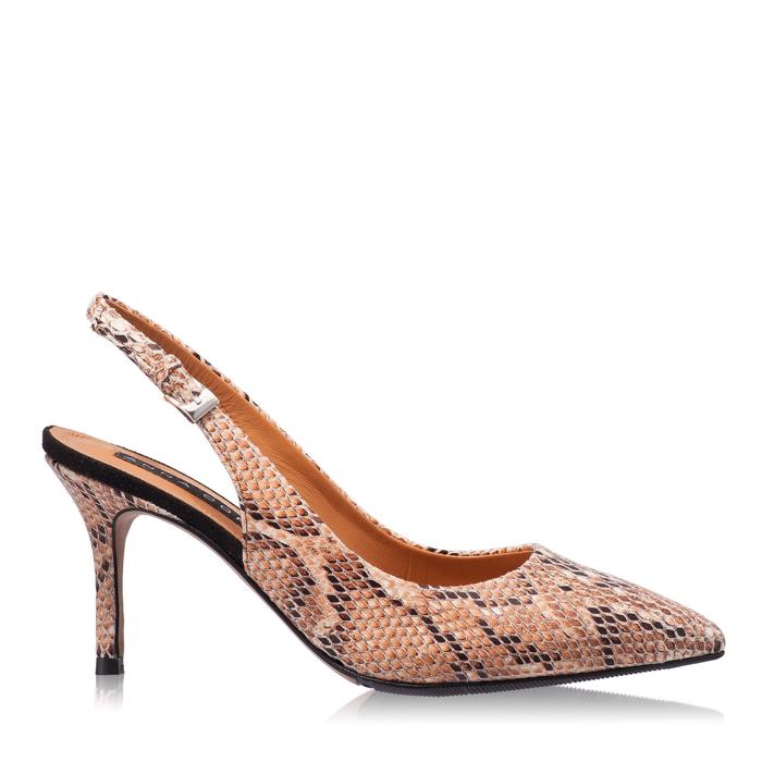 Pantofi Decupati Dama 5728 Snake Chic Maro