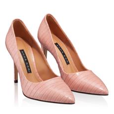 Pantofi Eleganti Dama 4332 Croco Pink Sand