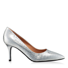 Imagine Pantofi eleganti dama 4416 Croco Argento