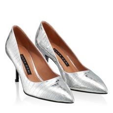 Pantofi eleganti dama 4416 Croco Argento