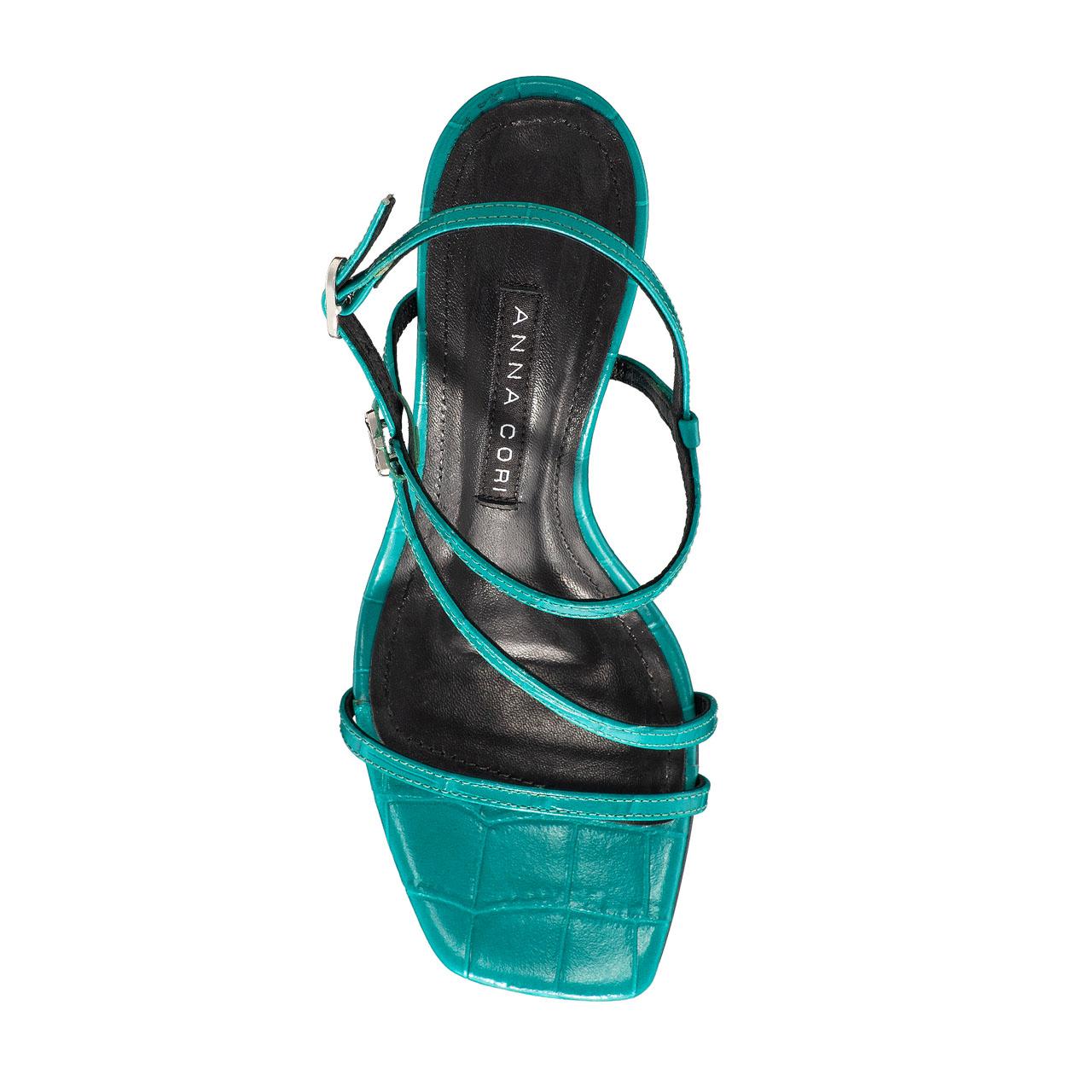 Imagine Sandale Dama 5880 Croco Turchese