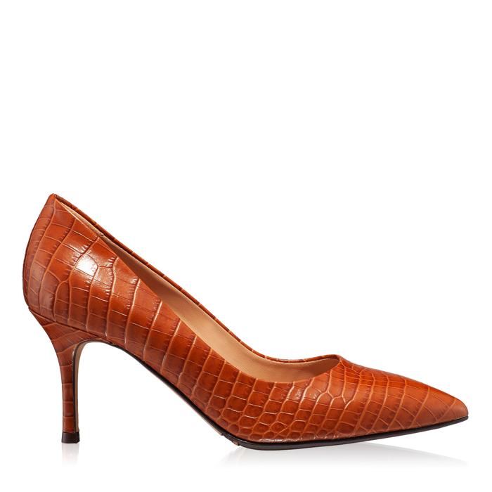 Pantofi eleganti dama 4416 Croco Cuoio