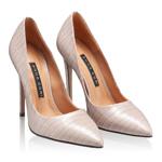 Imagine Pantofi Eleganti Dama 5597 Croco Taupe