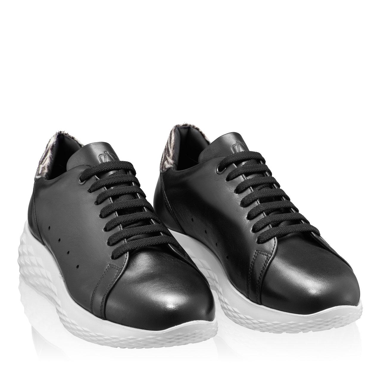 Imagine Pantofi Sport Dama 7110 Vitello Negru+Zebra